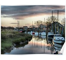 Sunset at Skippool Creek . Poster