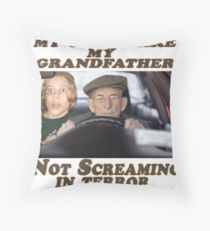 Geriatric Drivers Throw Pillow