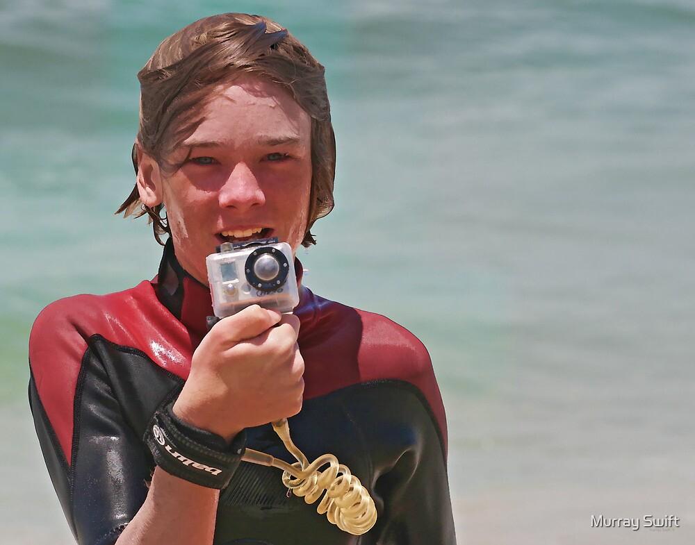 Junior surf photographer by Murray Swift