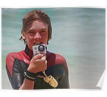 Junior surf photographer Poster