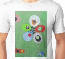Pebbles On Green Weave Unisex T-Shirt