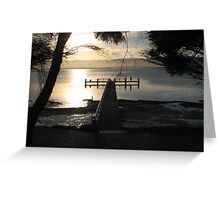 Boonerah Point Jetty Greeting Card