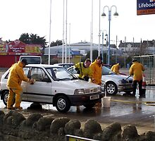 Wash Day at the Lifeboat Station - Skegness by Stephen Willmer