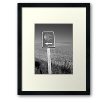 The familiar Camino marker Framed Print