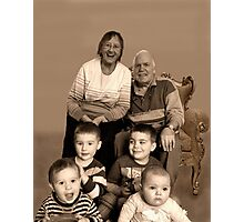 Great to be Great Grandparents Photographic Print