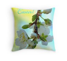 Plum Blossoms Notecard Throw Pillow