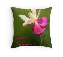 Fuschia Notecard- Valentine's Day Throw Pillow