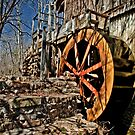 The John Wesley Hall Grist Mill by Phillip M. Burrow