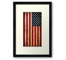 Vintage Grunge American Flag Framed Print