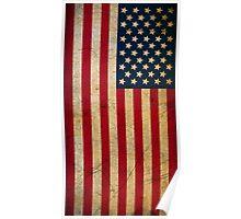Vintage Grunge American Flag Poster