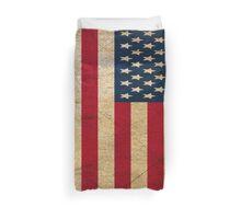 Vintage Grunge American Flag Duvet Cover