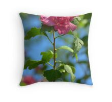 Pink Double Hibiscus Notecard -  Be Mine! Throw Pillow