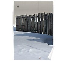 Fence In Snow Poster