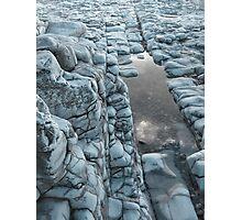 Blue Rockpool Photographic Print