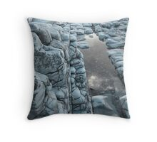 Blue Rockpool Throw Pillow