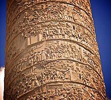 Trajan's Column, Rome by Lisa Hafey