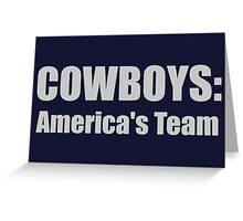 Cowboys: America's Team Greeting Card