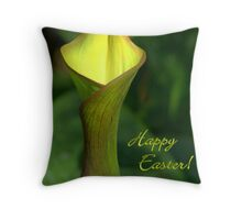 Yellow Lily Notecard -  Happy Easter! Throw Pillow