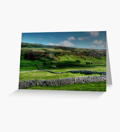 Light and Shade and Dry Stone Walls Greeting Card