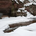 Adams Falls in Winter by Michael  Dreese