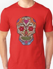 Adult Coloring - Skull Unisex T-Shirt