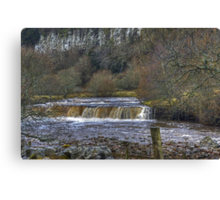 Wainwath Force,Swaledale Canvas Print
