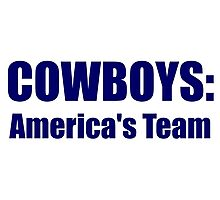 Cowboys: America's Team Photographic Print