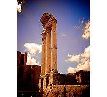 Temple of Castor and Pollux, Forum of Rome Photographic Print