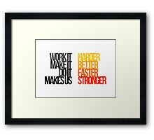Daft Punk - Harder Better Faster Stronger Framed Print