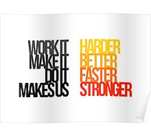Daft Punk - Harder Better Faster Stronger Poster