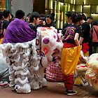 Lion dance troupe by robigeehk