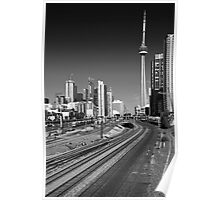 Tracks to the CN Tower Poster