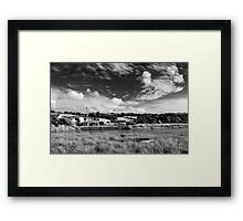 House by the water in Averton Gifford Framed Print