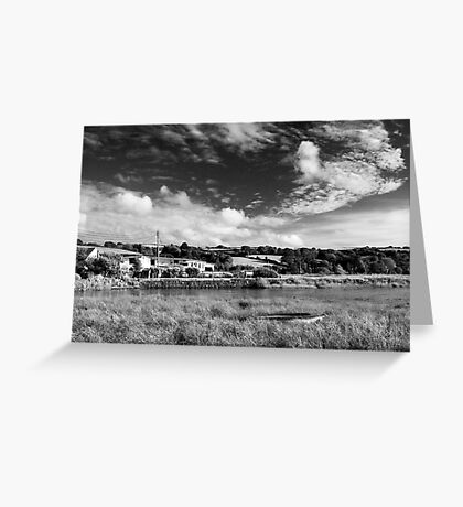 House by the water in Averton Gifford Greeting Card