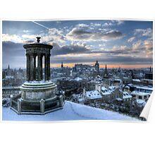 Edinburgh from Calton Hill Poster