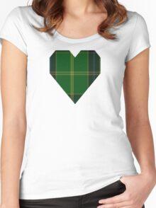 00379 U.S. Army Tartan  Women's Fitted Scoop T-Shirt