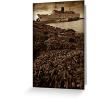 Old Rusty Liner Greeting Card