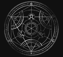 Human transmutation circle - chalk One Piece - Short Sleeve