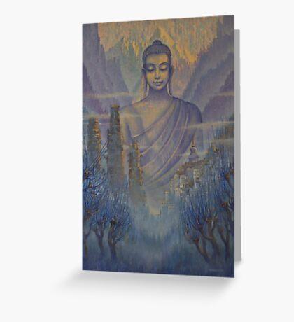 Buddha. Valley of Silence Greeting Card