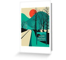 Twin Peaks - Modern Graphic Greeting Card