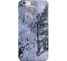 Leaves 1 Mixed Media - Ink on Acrylic Monotype Print iPhone Case/Skin