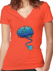 Disconnected Reality Women's Fitted V-Neck T-Shirt