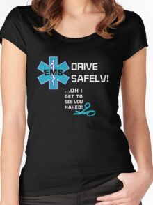 EMS Humor - Naked Women's Fitted Scoop T-Shirt