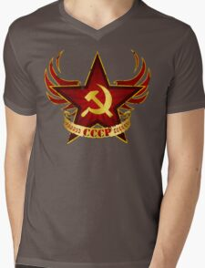 CCCP Army Mens V-Neck T-Shirt