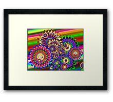 Hippy Dippy Flowers Framed Print