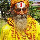 Yellow Sadhu, Kathmandu by AlliD