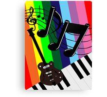 Musical Matrix Canvas Print
