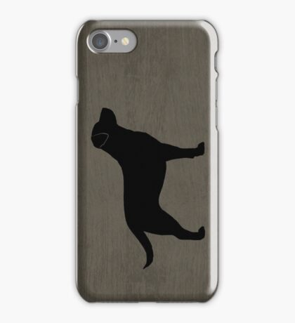 Black Labrador Retriever Silhouette(s) iPhone Case/Skin