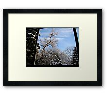 Window to Winter Framed Print