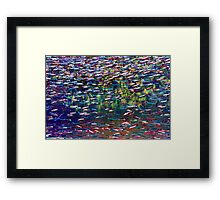 Underwater Abstract Gallery - Piece 3 (Impressionistic) Framed Print